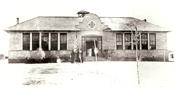 The old Mesilla Park School, another Trost & Trost design, was built in 1899 and has been repurposed several times over the decades. It is currently serving as the Frank O'Brien Papen Community Center.